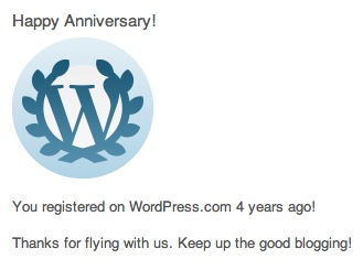 4th Anniversary of Blog