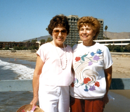 My mother with Susan's mother; this picture was taken perhaps about 20 years ago.