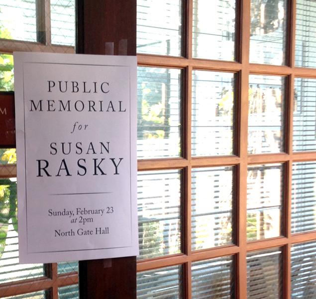 Susan's Memorial Flier