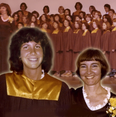 This picture is from my high school choir days. I recently visited my beloved teacher, Frankie.