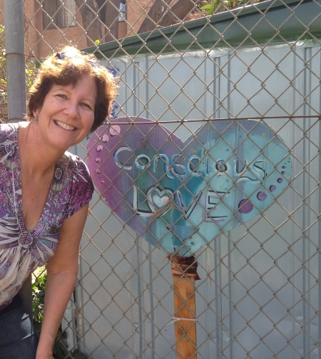 My friend Marge took this picture while we were walking through a park together. It matched my blouse in color. I noticed a heart shaped shadow before I saw the sign. It held great meaning for me because I believe self-love is very important when coping with challenges in life.