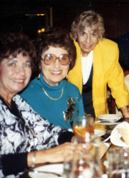 Three dear friends: my mother, Shirley, with Evelyn and Sophia