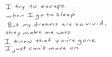 I try to escape