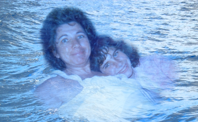 Mom & I on the waves