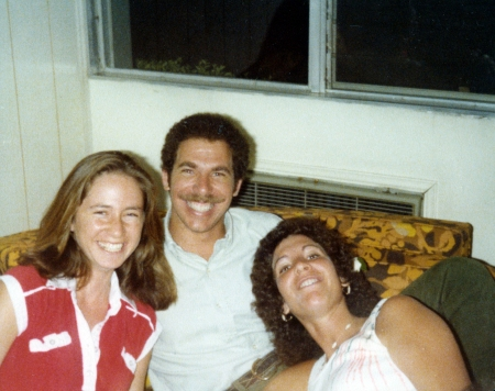 This is an old picture of Howard and I. My childhood friend, Joni, is on the left and I often sit near that same window.