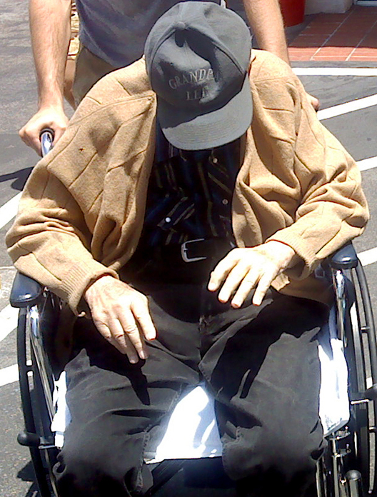 Dad in his wheelchair 2