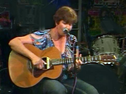 Playing guitar at Kulak's