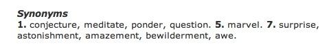 Wonder synonyms
