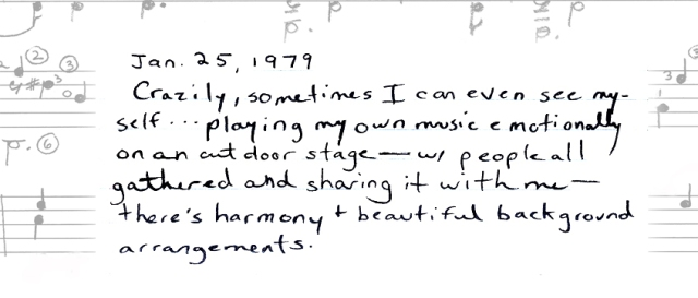 This is a page from my diary, written in 1979.