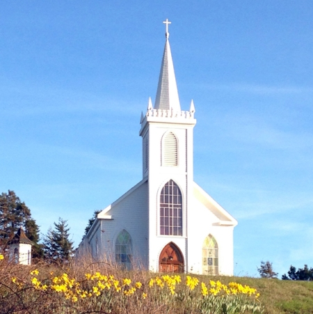 In February, I visited Northern California where I took this picture of this famous church.