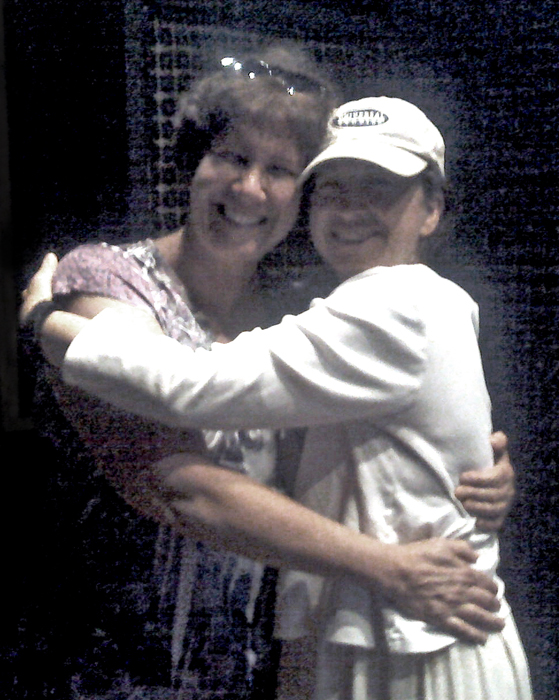 This picture was taken when Joni came to visit me at the recording studio where I sing my vocals.