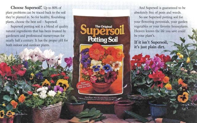 Potting soil ad