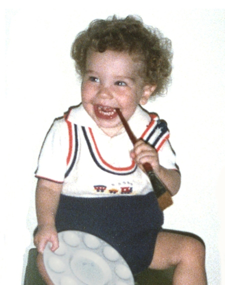 This picture is of Jason when he was three. My children always had plenty of art supplies to work with.