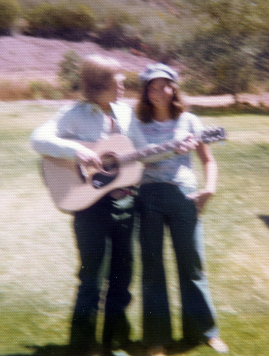 This photo is blurry, but it brings back memories of carefree times when I played my guitar and had many boyfriends.