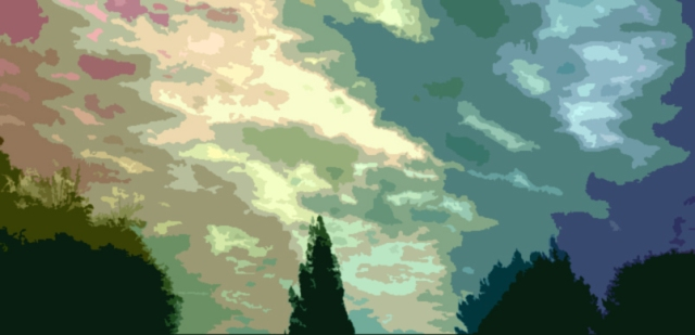 Peaceful sky cutout