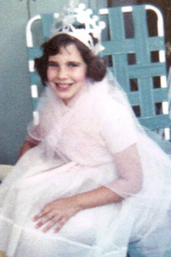 This is a great photo for me to share as a Princess. I am about seven or eight in this picture.