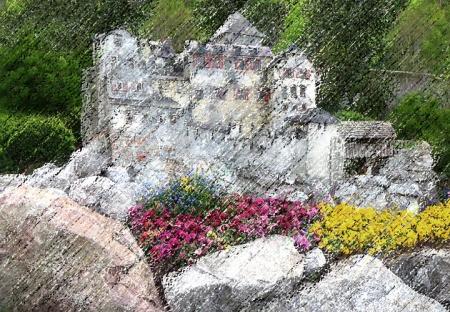 CASTLE FLOWERS Pastel