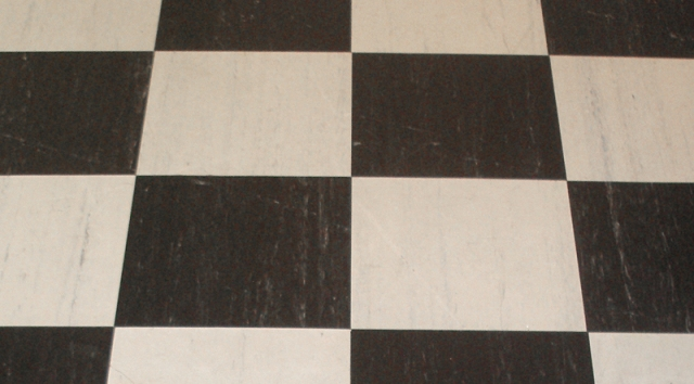 Black & White linoleum