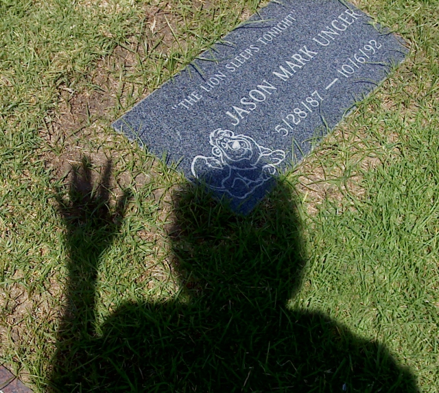 Jason's grave and shadow 3