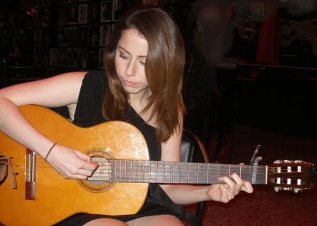 daughter performing
