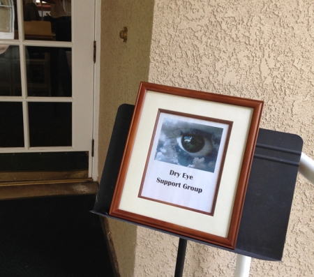 This photo was taken when I attended a dry eye support group meeting. It wasn't in my area, but I'm glad I went. I met and thanked a wonderful woman named Judi, who really helped my eyes improve with her advice.