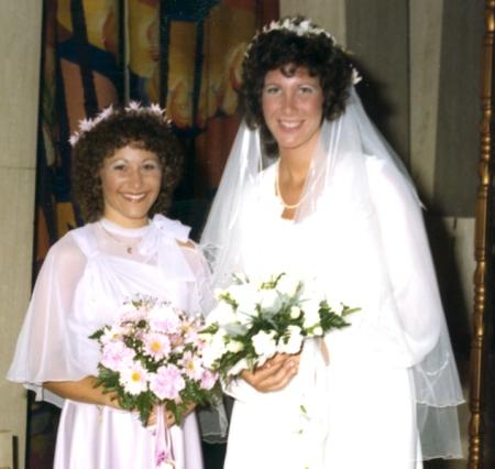 Cheryl and I at my wedding