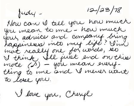 Cheryl's card
