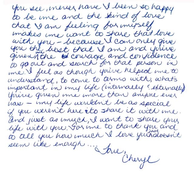 Cheryl's words 1