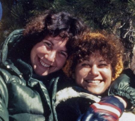 Judy & Cheryl at the snow