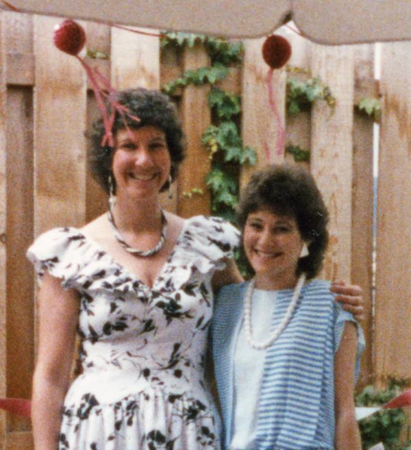 Judy & Cheryl in 1985