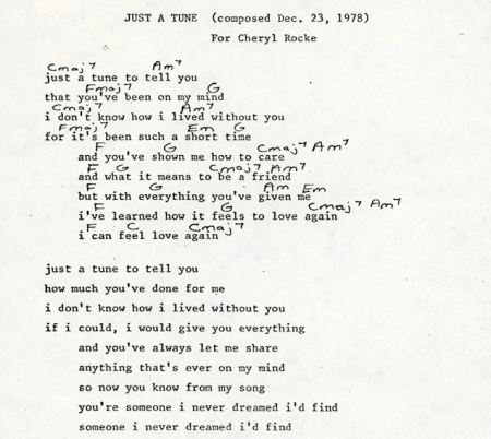 Just a Tune songsheet A