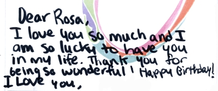 The card to Rosa 3