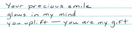 Your precious smile