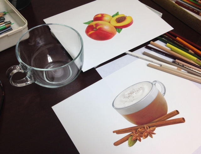 Chai illustration and cup