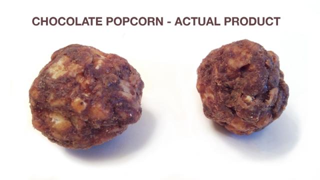 Chocolate pocorn actual product