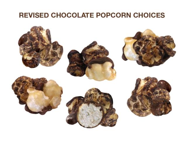 Chocolate Popcorn Choices