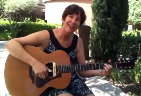 This picture was taken two years ago when I played guitar in the garden for my mother at her nursing home.