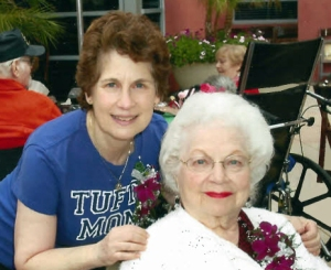 This is a picture of my good friend, Janis with her mother. Her mother died a week after my mother died in October of 2013.
