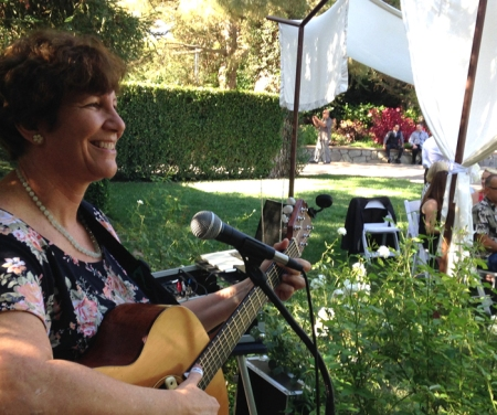 Last August, it was very touching for me to sing the very same song I wrote when I was married at a garden wedding for my niece.