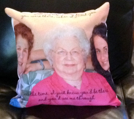You were there memorial pillow
