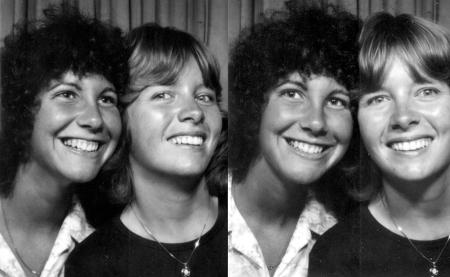 Judy & Carol b&w 2