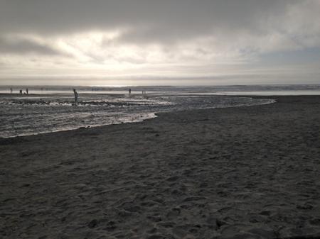 Eerie beach
