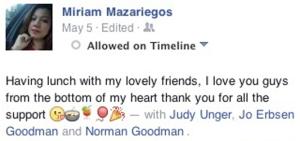 Miriam's Post