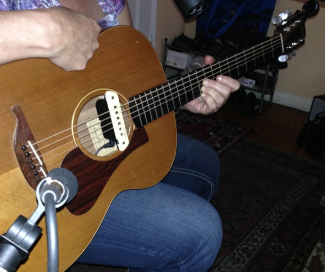 This picture is important for mic placement. I am planning to record an album of acoustic guitar.