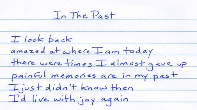 I look back