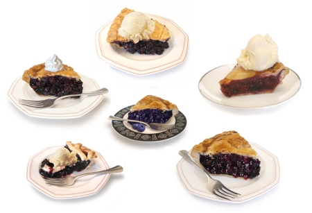 While working on a blueberry pie illustration, I was dreaming of pie! Above are some of my photo reference shots. The one (on the bottom right), which from the pie shop and was the one I used.