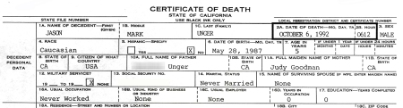My son's death certificate shows he never married and never worked. He was only 5 years old. So many things he never was able to do. But he was real and he did live for five years. His presence and his absence changed my life.