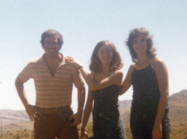 This picture is with my older brother, Norm, on the left. Joni and I were about 19 years old, at the time.