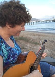 Judy & Guitar in Malibu
