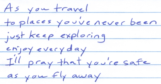 As you travel